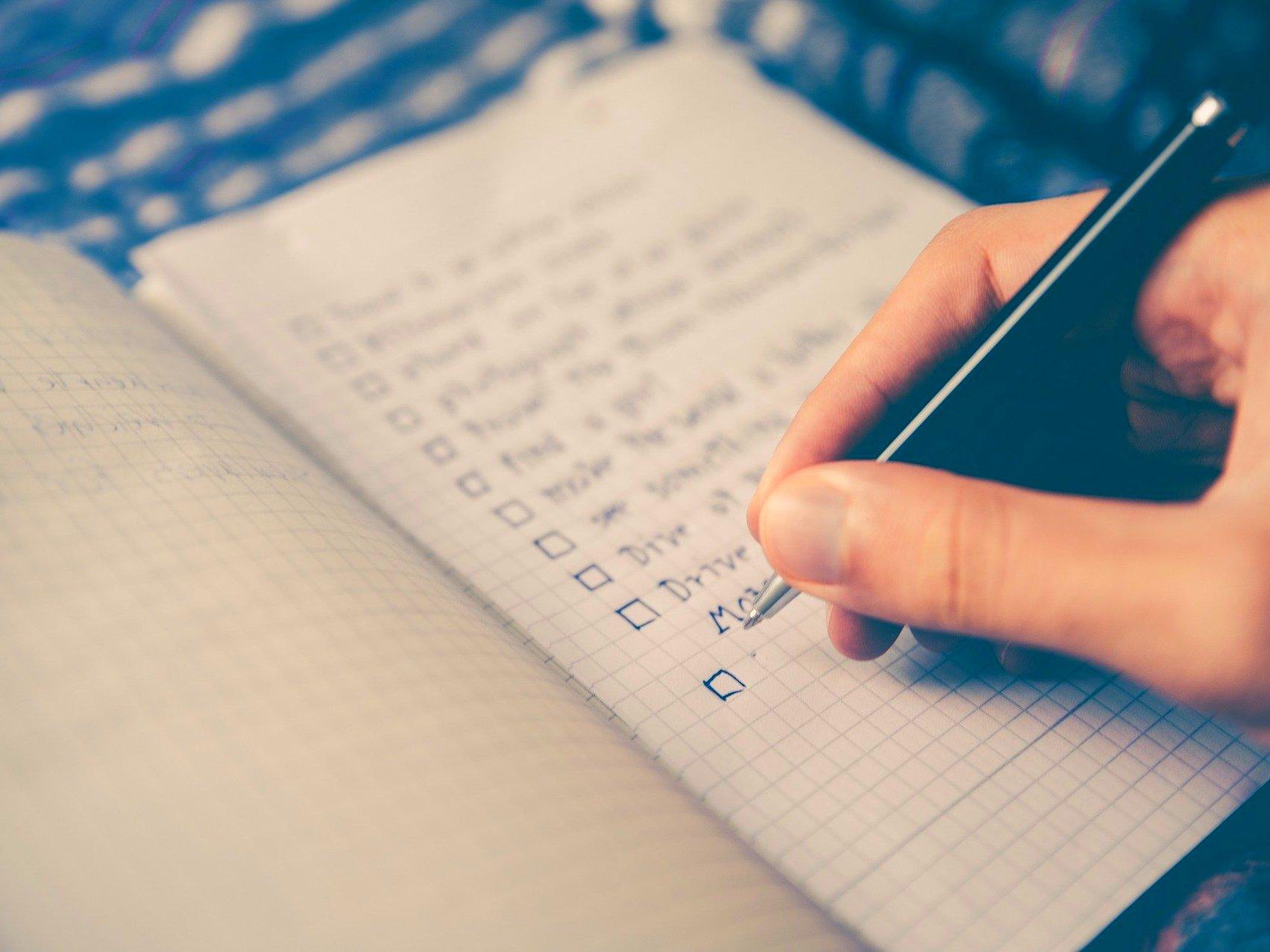 Checkliste Existenzgründung